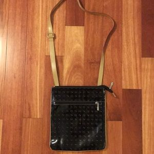 Arcadia Black Patent Leather Crossbody